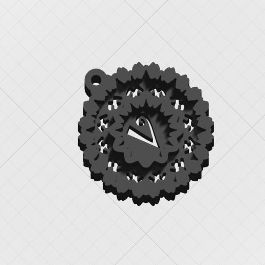"Télécharger fichier STL Pendentif ""Lettre magique V • Objet imprimable en 3D, mandrakecr"