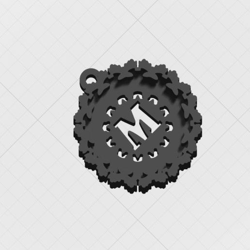"""Télécharger objet 3D Pendentif """"Lettre magique M, mandrakecr"""