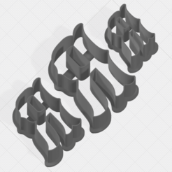 Download 3D printer designs Letter R Collection Cookie Cutter, mandrakecr