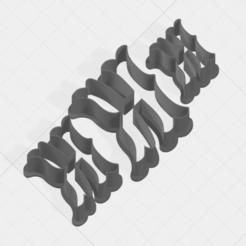 K SCK 5-7-9cm.png Télécharger fichier STL Coupe-biscuits de la collection Letter K • Objet pour impression 3D, mandrakecr