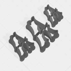 A SCK 5-7-9cm.png Télécharger fichier STL Lettre Un coupe-biscuit • Objet à imprimer en 3D, mandrakecr
