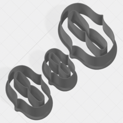 Download 3D printing templates Number 0 Collection Cookie Cutter, mandrakecr