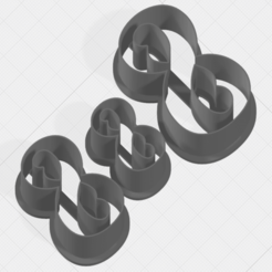 Download 3D printer files Number 8 Collection Cookie Cutter, mandrakecr
