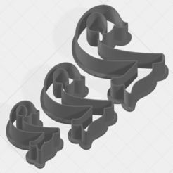 Download 3D printing files Number 2 Collection Cookie Cutter, mandrakecr