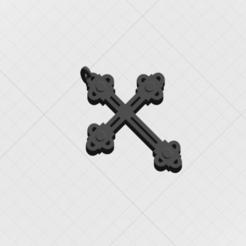 Télécharger modèle 3D Pendentif Sainte-Croix, mandrakecr