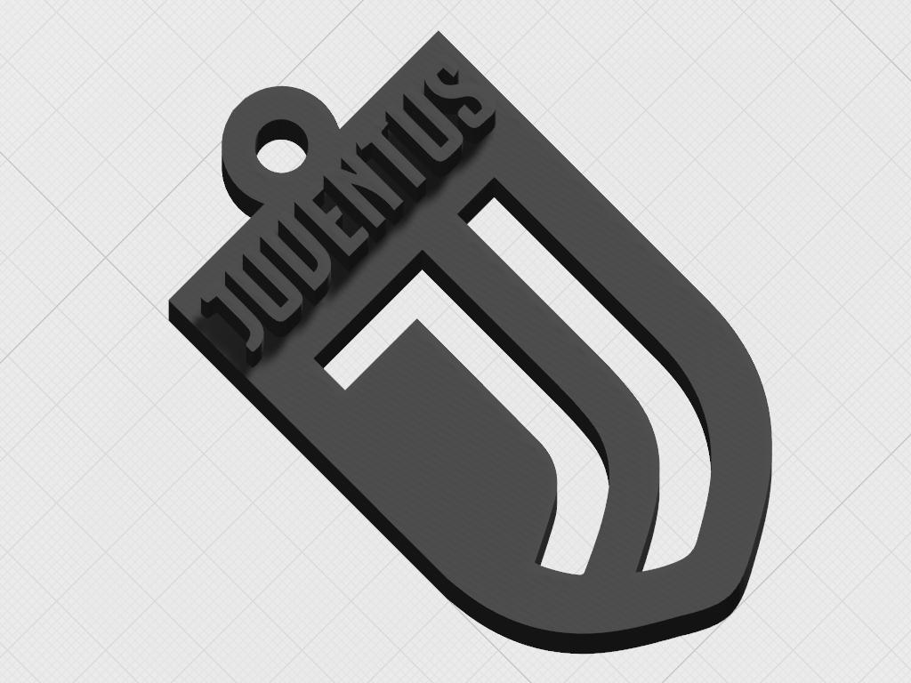 download stl file premium juventus logo keyring design to 3d print cults premium juventus logo keyring