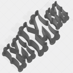 Download 3D printer files Letter M Collection Cookie Cutter, mandrakecr