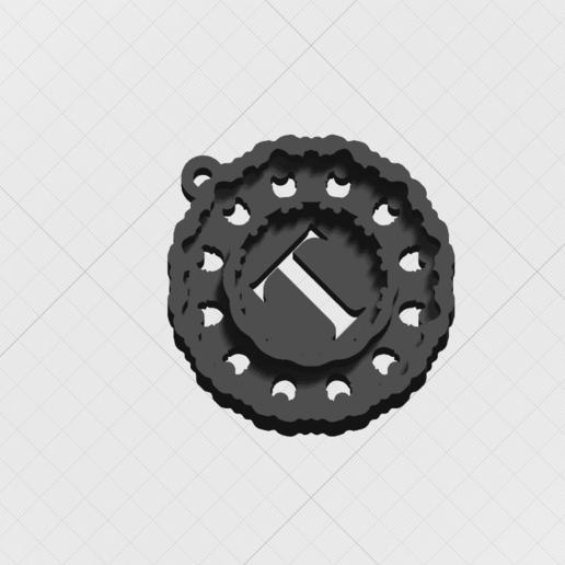 Télécharger fichier STL Pendentif Magic Letter T • Modèle imprimable en 3D, mandrakecr