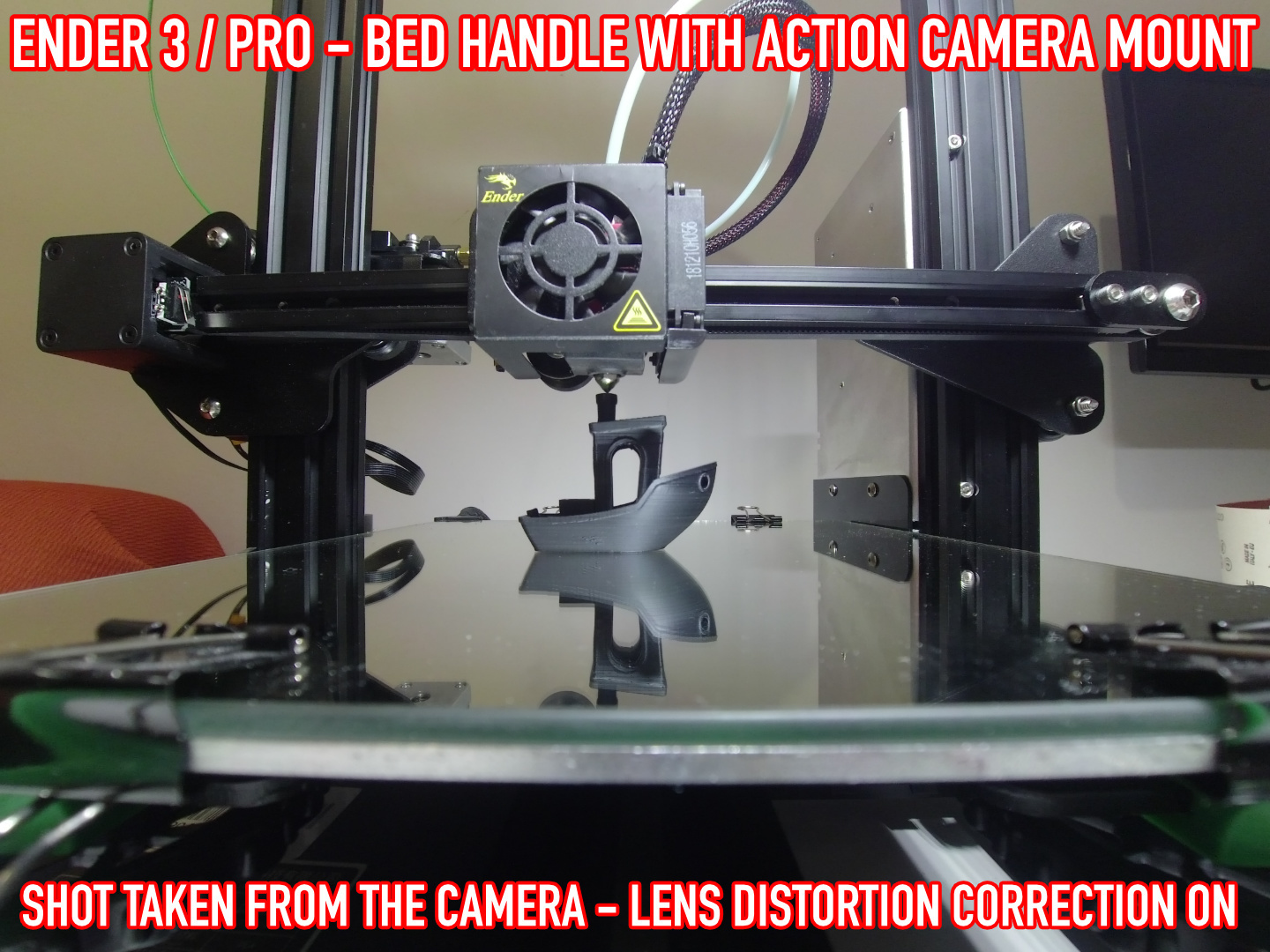 12.jpg Download free STL file ADKS - Ender 3 Bed Handle with action cam mount • Template to 3D print, Adarkstudio