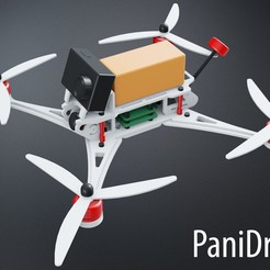 Download free 3D printing models PaniDrone r01 - 7in Quadcopter, Adarkstudio