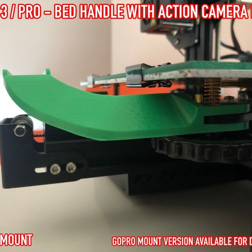 07.jpg Download free STL file ADKS - Ender 3 Bed Handle with action cam mount • Template to 3D print, Adarkstudio