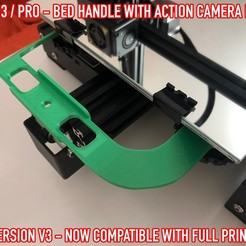 06.jpg Download free STL file ADKS - Ender 3 Bed Handle with action cam mount • Template to 3D print, Adarkstudio