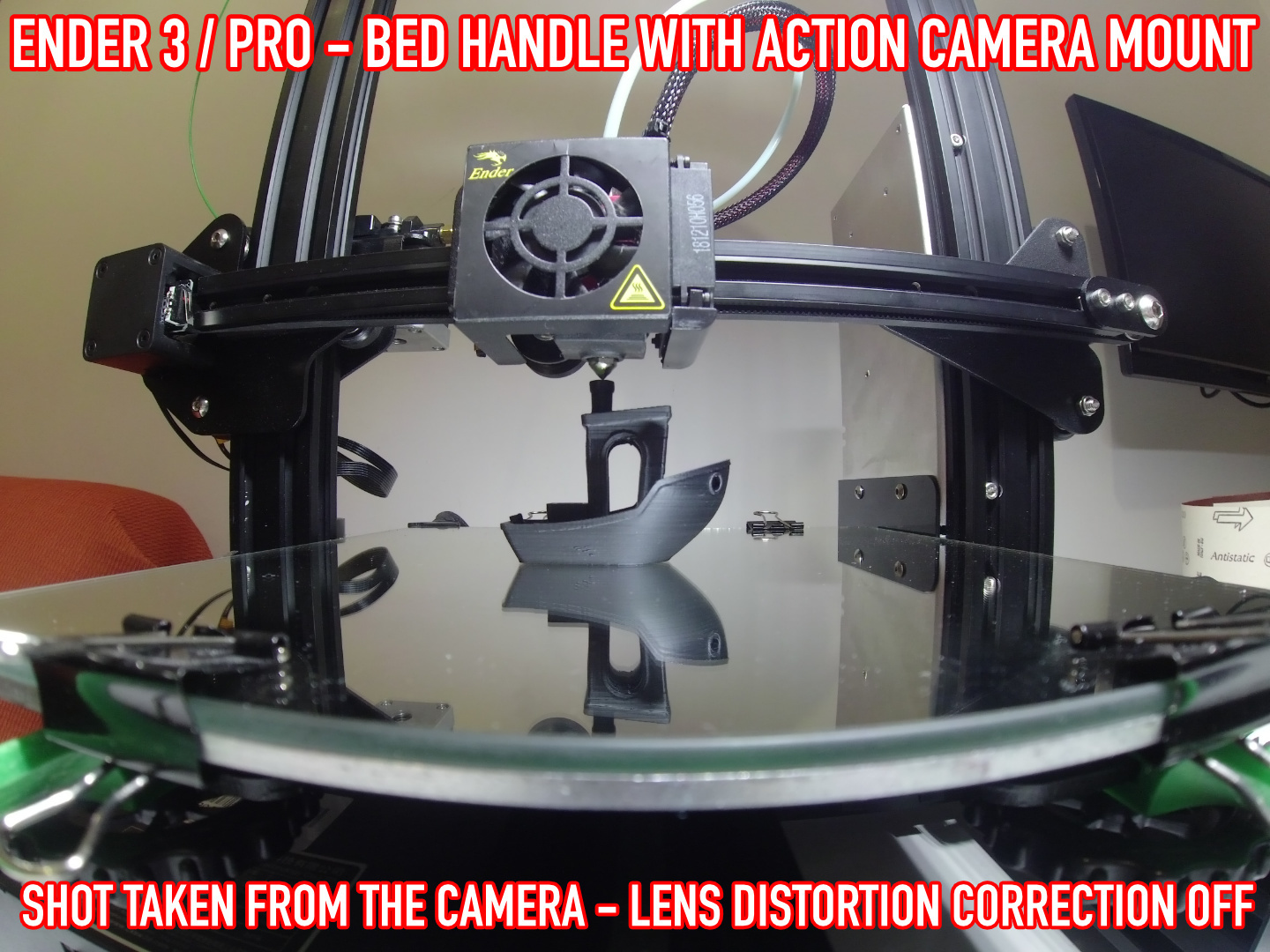 13.jpg Download free STL file ADKS - Ender 3 Bed Handle with action cam mount • Template to 3D print, Adarkstudio