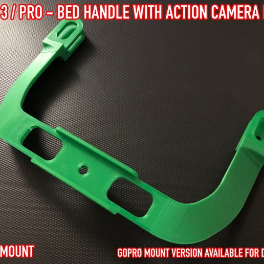 04.jpg Download free STL file ADKS - Ender 3 Bed Handle with action cam mount • Template to 3D print, Adarkstudio