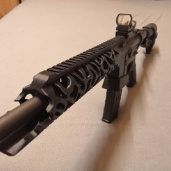 Download STL Airsoft M4 Handguard Grip Rail, jens_corexy
