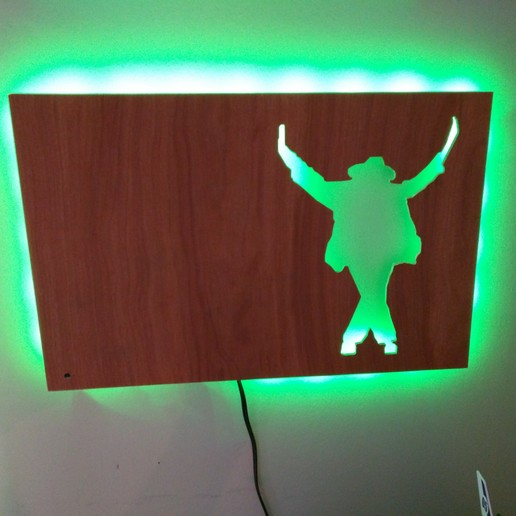mj2.jpg Download free STL file Michael Jackson plywood lamp • 3D printable design, iamjorgensen