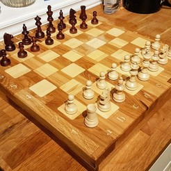 Download free 3D printer designs DIY Chessboard made with CNC, iamjorgensen