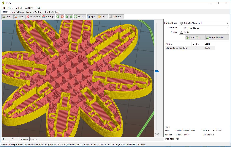 "margarita_3.PNG Download free OBJ file USB Organizer 3 in 1 ""Daisy Flower"" (Margarita) • 3D printer object, PaulDrones"