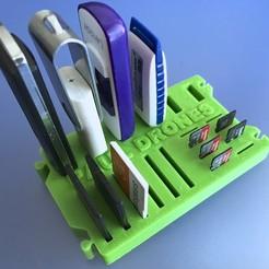 Descargar diseños 3D gratis Organizadores USB SD y Micro SD, PaulDrones