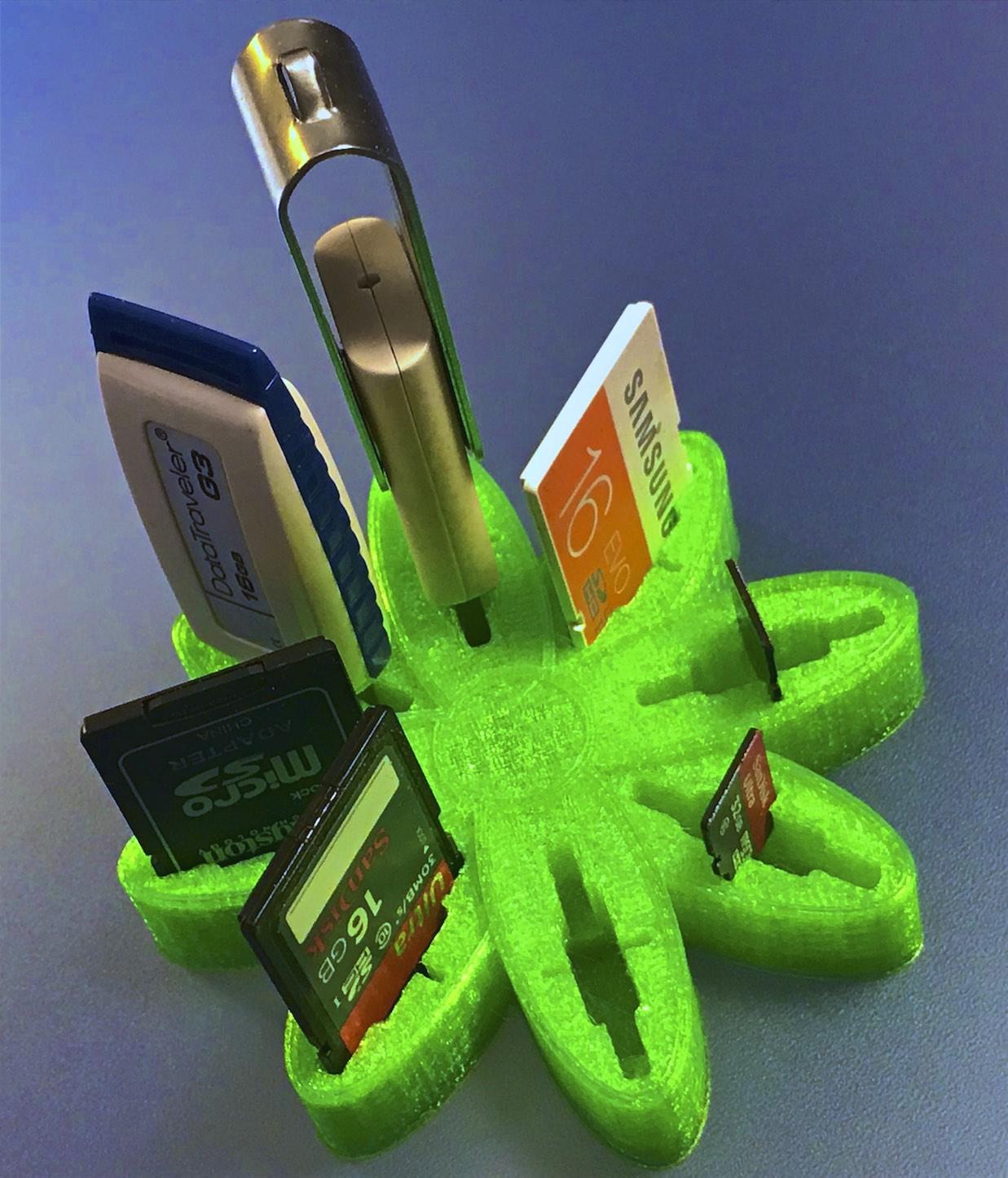 "IMG_3332.jpg Download free OBJ file USB Organizer 3 in 1 ""Daisy Flower"" (Margarita) • 3D printer object, PaulDrones"