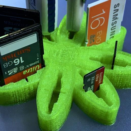 "IMG_3331.jpg Download free OBJ file USB Organizer 3 in 1 ""Daisy Flower"" (Margarita) • 3D printer object, PaulDrones"