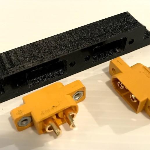 IMG_6206.jpg Download free OBJ file X Class parts, double XT60 box • 3D printer design, PaulDrones