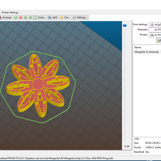 "Margarita_1.PNG Download free OBJ file USB Organizer 3 in 1 ""Daisy Flower"" (Margarita) • 3D printer object, PaulDrones"