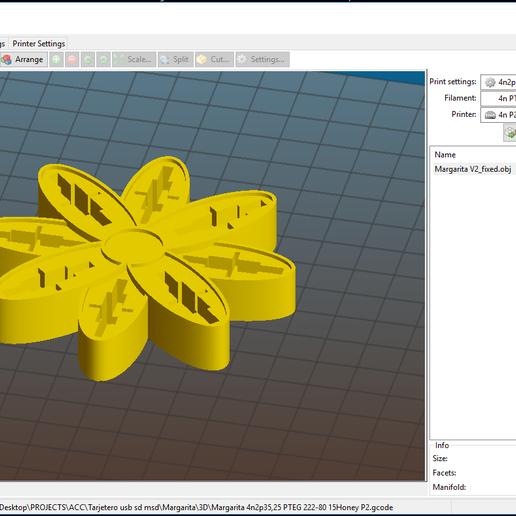 "Margarita_2.PNG Download free OBJ file USB Organizer 3 in 1 ""Daisy Flower"" (Margarita) • 3D printer object, PaulDrones"