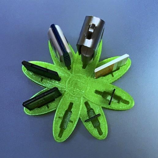 "IMG_3330.jpg Download free OBJ file USB Organizer 3 in 1 ""Daisy Flower"" (Margarita) • 3D printer object, PaulDrones"
