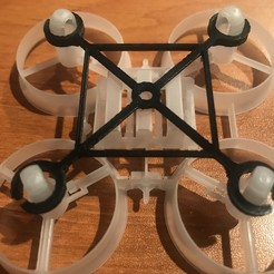 IMG_3700.JPG Télécharger fichier STL gratuit Raidisseur pour Tiny (Tinywoop) 65mm chasis, avec moteurs de 7mm. • Modèle pour imprimante 3D, PaulDrones