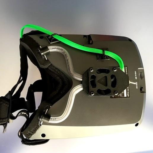 """Télécharger modèle 3D gratuit Ventilateur pour casque antibuée """"Ventilador Antivaho""""., PaulDrones"""