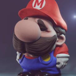 Download 3D print files Stylized Mario, Leppe