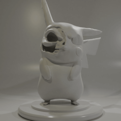 render.png Télécharger fichier STL Pikachu Cranium • Design pour impression 3D, Leppe