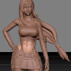 1.png Télécharger fichier STL Tifa Lockhart Final Fantasy VII REMAKE HIDEF KEYED modèle d'impression 3D • Modèle imprimable en 3D, danielign15