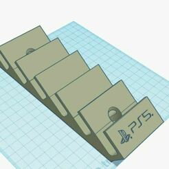 Captura.JPG Download STL file PS5 game wall display • 3D printing template, battousalem