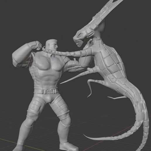 Download STL X-men Diorama: Colossus vs the Brood., Tronic3100