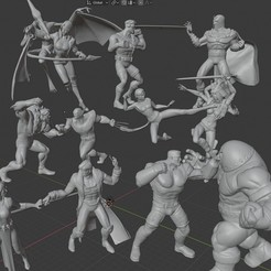 A001.jpg Download STL file X-MEN DIORAMA: X-MEN VS THE BROTHERHOOD. • 3D printable template, Tronic3100