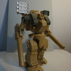 """Télécharger fichier OBJ gratuit Ouvrez 6 baies de missiles pour le destroyer 7"""" Robotech Excaliber MK VI • Design pour impression 3D, Tronic3100"""