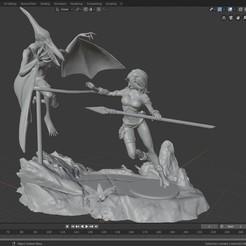 Télécharger fichier 3D DIORAMA X-MEN : ROGUE VS SAURON (Edition SavageLand), Tronic3100