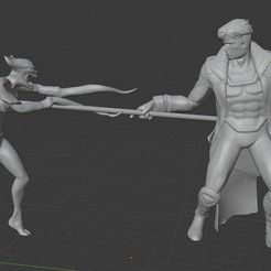 Download 3D printing models X-men Diorama: Gambit vs the Brood. , Tronic3100