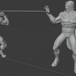A001.jpg Télécharger fichier STL Diorama X-men : Cyclope contre Magnéto. • Design imprimable en 3D, Tronic3100