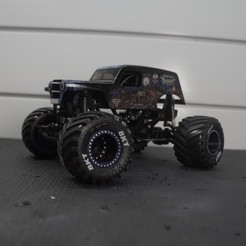 DSC01281.JPG Download STL file Micro RC Solid Axle Monster Truck  • 3D printable template, FullThrottleRC