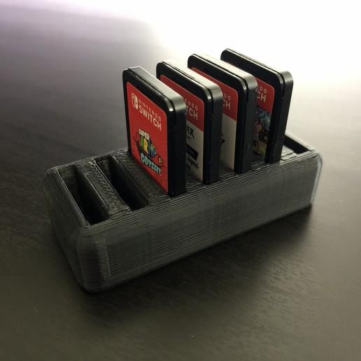 Download STL file Nintendo Switch Cartridge Stand [Minimalistic], tra6zon1uyum