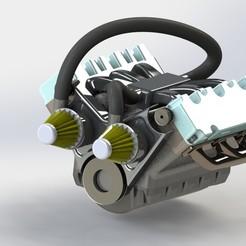 Descargar archivos 3D MOTOR V6, mahadqasim74