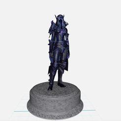 Descargar archivos 3D gratis Elfa de la noche, Elfa, wow, world of warcraft, ryad36