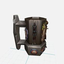Download 3D printer templates Mug,Shop Horde With Boss World of Warcraft, ryad36