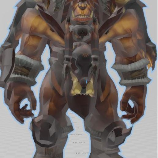 Download free 3D printer designs Durotan, World of warcraft, Boss, Wow, games, Horde, Alliance, Orc, frosty wolf,, ryad36