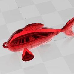 Descargar STL gratis Llavero de pez, ryad36