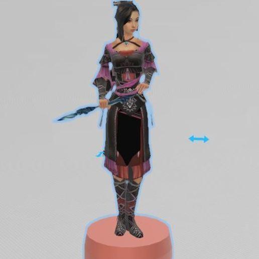 Télécharger modèle 3D gratuit combattante chinoise, Femme, chinois, ryad36