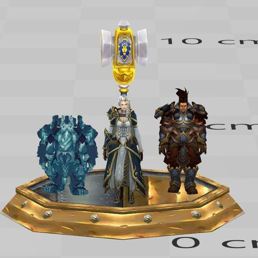 Download 3D printing designs 3 boss alliance,World of warcraft ,Wow, ryad36